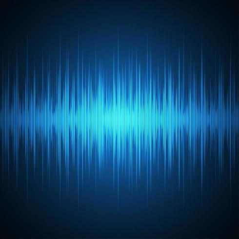 Futuristische Klangwellen vektor