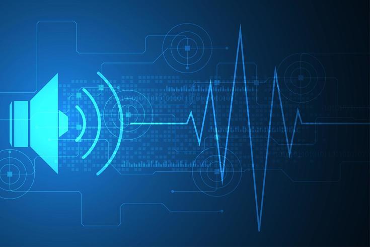 Abstrakt volym och ljudvågkoncept vektor