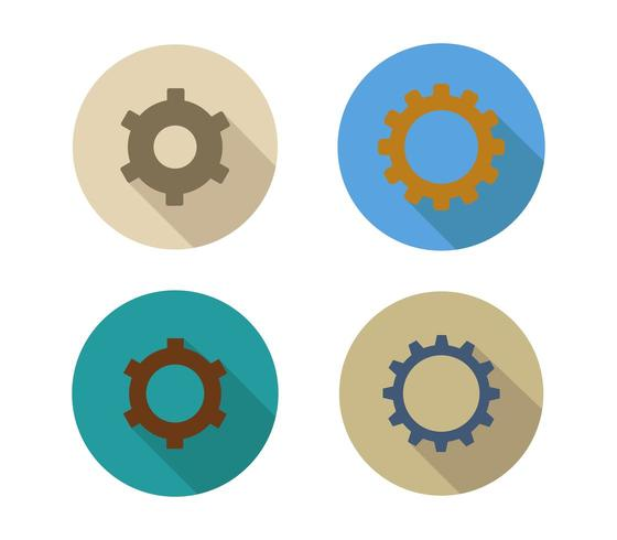 Set of gear icons on a white background vector