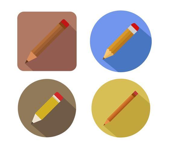 Bleistift-Symbol auf weißem Grund vektor
