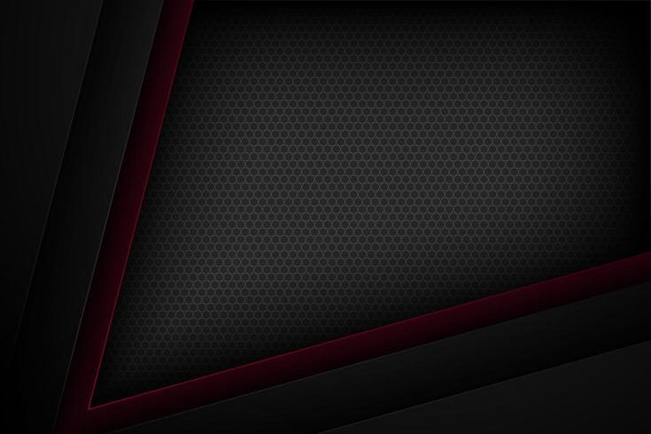 Svart och mörkröd vinklad bakgrund för effektpapper vektor