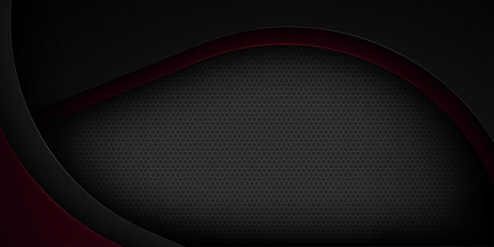 Schwarze und rote Kurve schnitt Formhintergrund heraus vektor