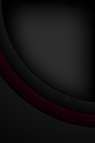 Schwarze abstrakte vertikale Überschneidungskurve formt Hintergrund