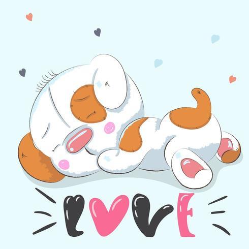 süßes Baby Hund zur Festlegung vektor