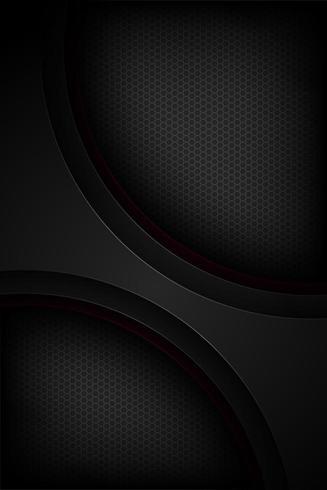 Forme sovrapposte curve curve verticali nere nere