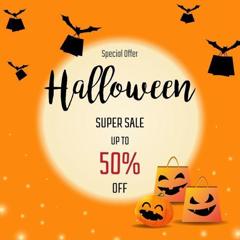 Halloween försäljning banners vektor
