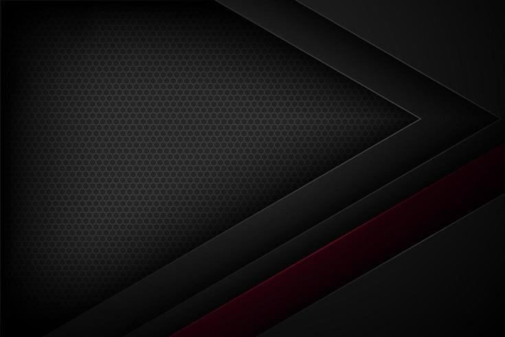 Black and red angled layered paper effect background