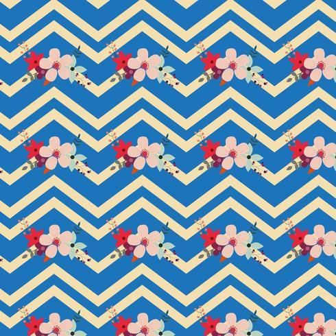 floral Chevron-Muster Design vektor