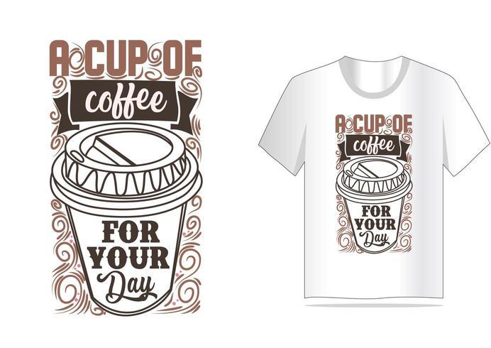 koffie vintage typografie voor t-shirt ontwerp vector