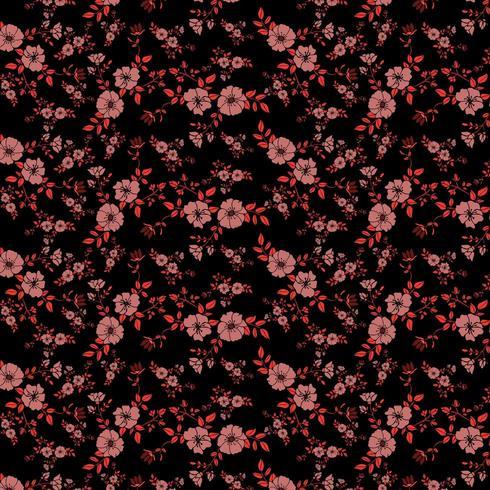 mooi bloemenpatroon vector