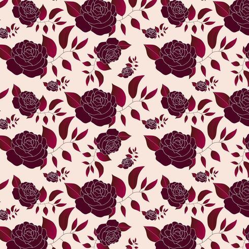 mooie bloemen roos patroon vector