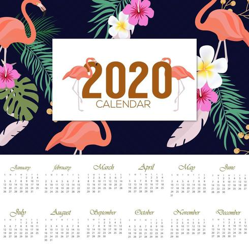 2020 tropical calendar design