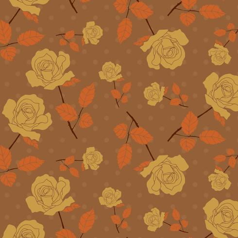 handgeschilderd bloemmotief vector