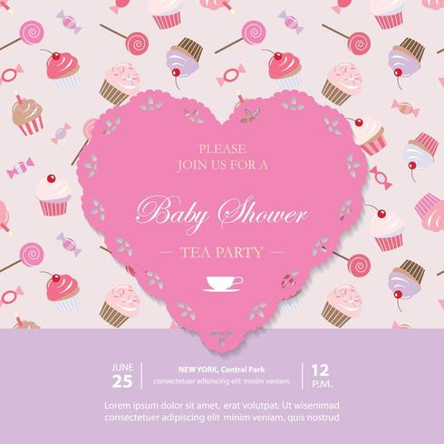 Elegant template with lacy cutout heart. vector