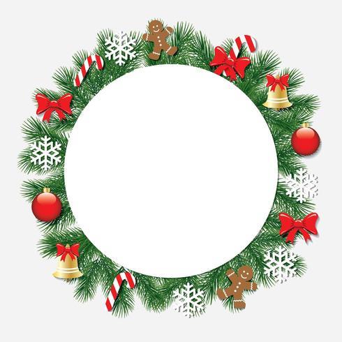Marco decorativo de navidad. vector