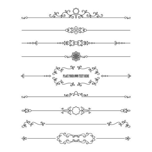 Frame en verdelers geplaatst die op wit worden geïsoleerd. vector