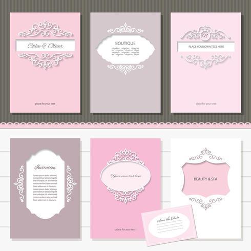 Vorlagen-Set von Broschüren, Karten, Banner. vektor