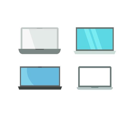 Conjunto de iconos de laptop vector