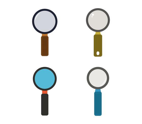 Vergrootglas icon set vector