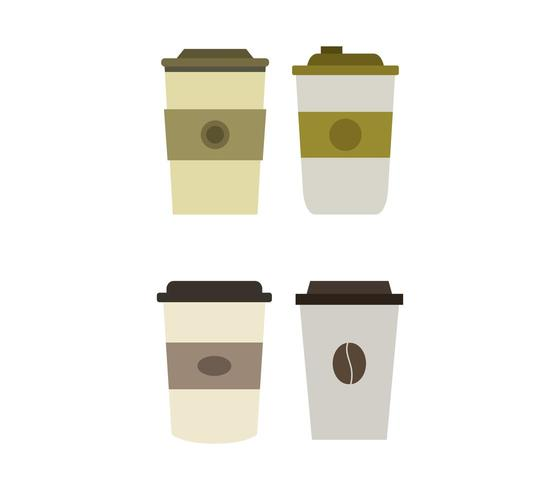 Kaffeetasse-Icon-Set vektor