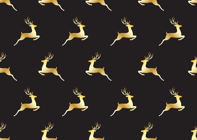 Nahtloses Muster von goldenen Weihnachtsrotwild vektor