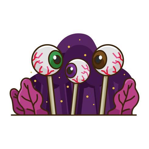 Halloween-Augensüßigkeitset vektor