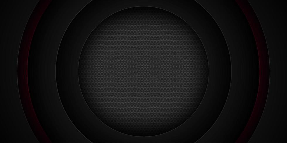 Schwarzes überlagertes Schnittpapier-Kreisdesign vektor