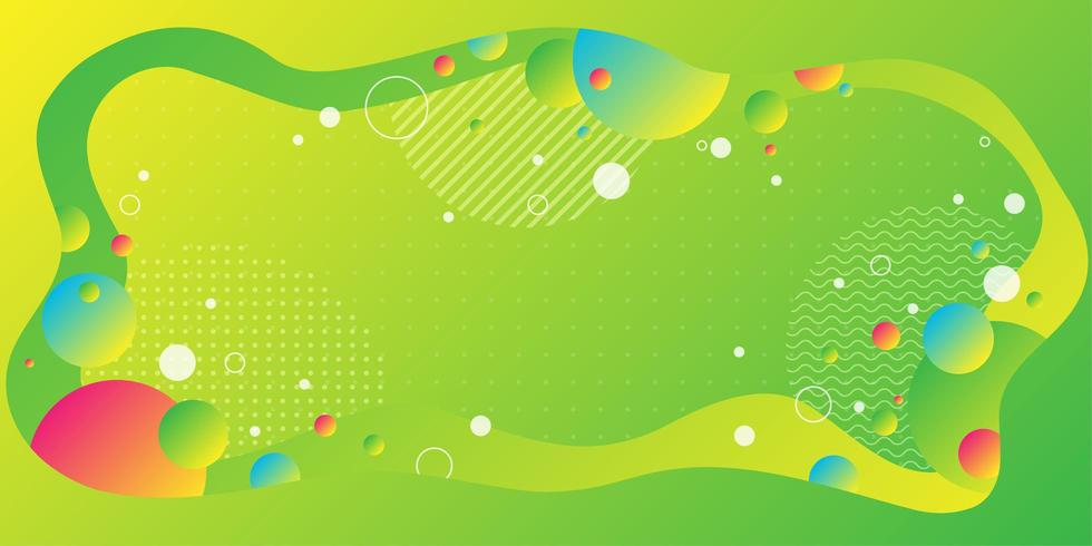 Bright neon green background with fluid shape  vector