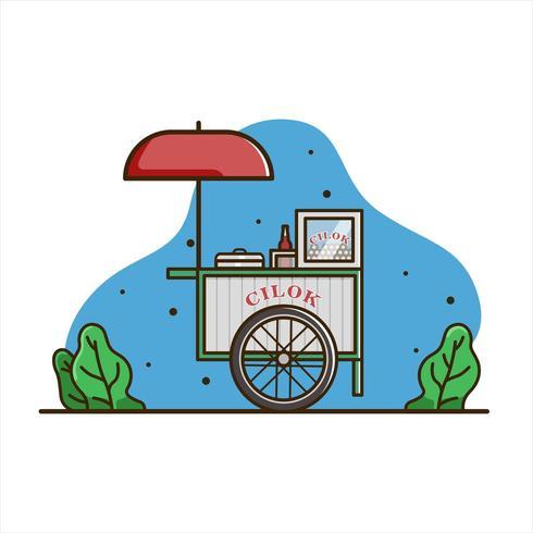 Cilok Lebensmittelwagen vektor