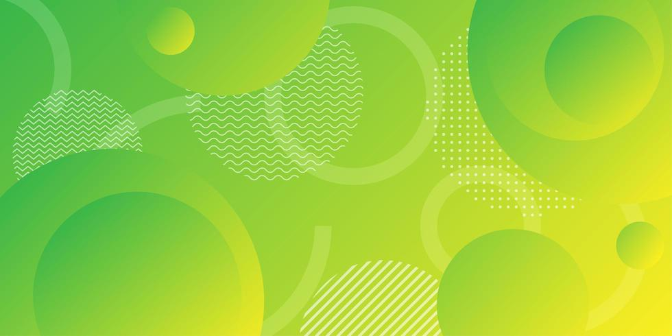 Neon yellow green gradient background with overlapping round shapes