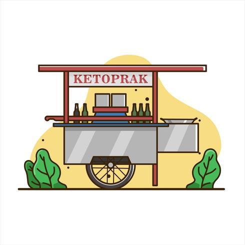 Ketoprak-Imbisswagen vektor