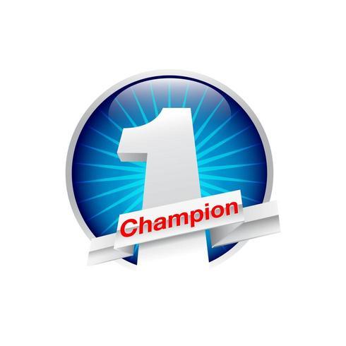 Nummer eins Champion-Symbol vektor