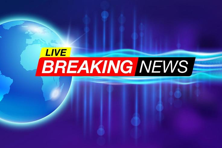 Live breaking news rapport banner vector