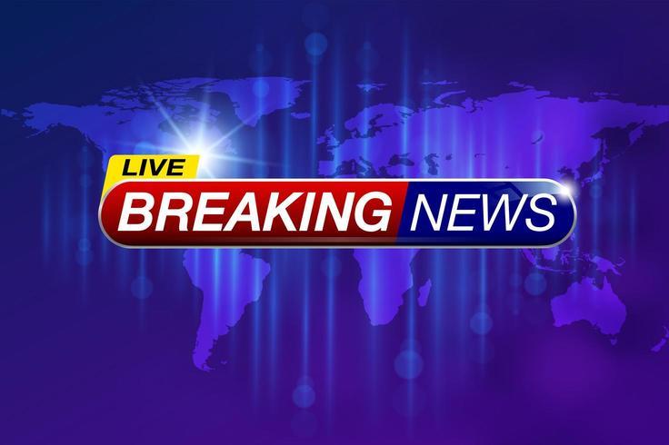 Live breaking news banner met globale kaart