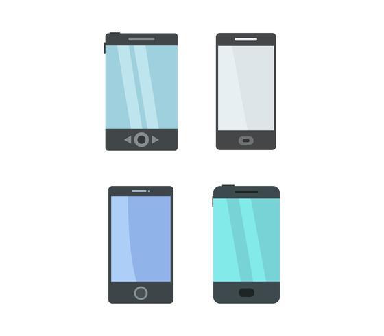 Set van smartphone iconen vector