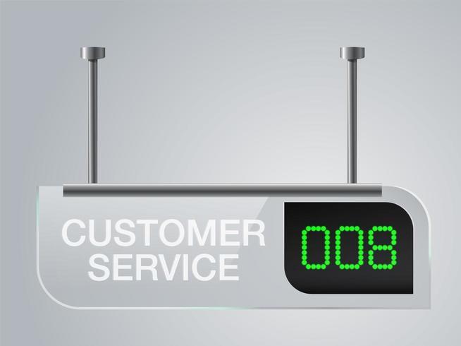 Kundendienst Digital Sign Board vektor