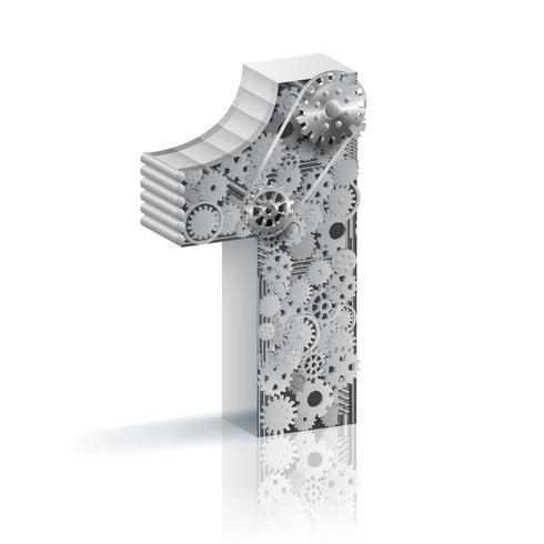 Industrielles Design der Nr. Eine 3d vektor