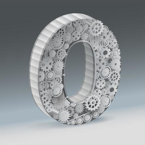 Diseño industrial número cero 3d