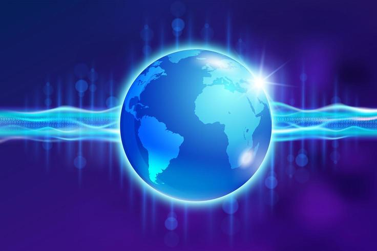 Abstracte wereldwijde digitale communicatie vector