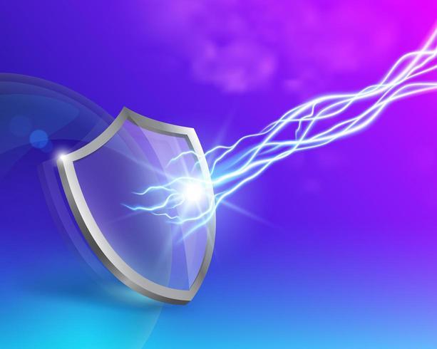 Glas schild bescherming concept vector