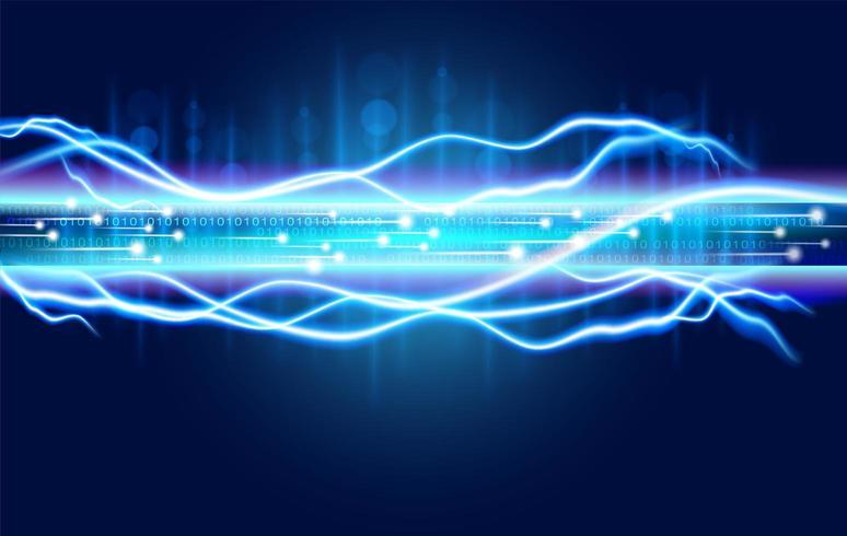 Abstrakte digitale Glasfasertechnologie