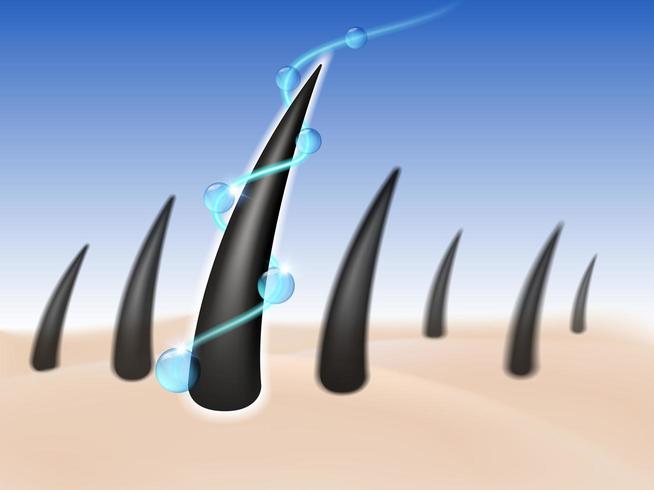 Haarverzorging behandeling serum marketing concept vector