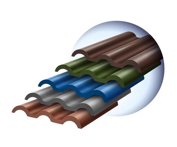 Gekleurde dakpannen vector