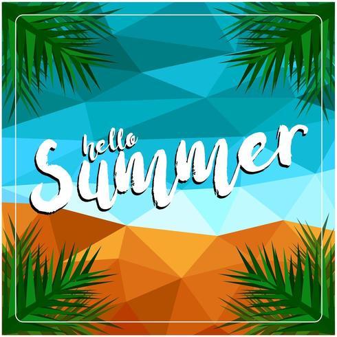 Hallo Sommertag Hintergrund vektor