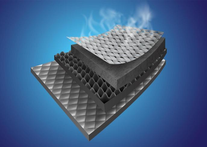 Materialen voor thermische isolatielagen vector