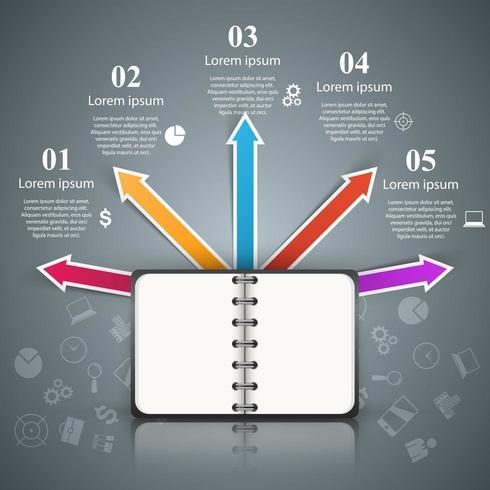 Livre papier - infographie de l'entreprise.