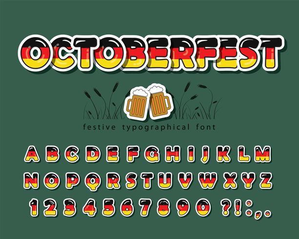 Germany cartoon font.  vector