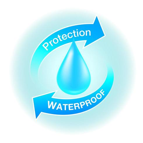 Waterdicht beschermingspictogram