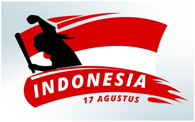 Indonesien Independence Day Hintergrund vektor