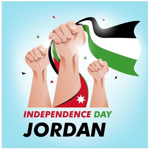 Jordanien Unabhängigkeitstag vektor